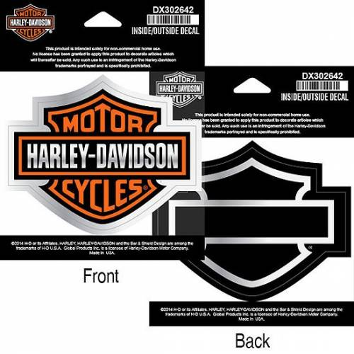 Sticker Bar & Shield de vitre, recto verso, intérieur, Harley-Davidson DX302642