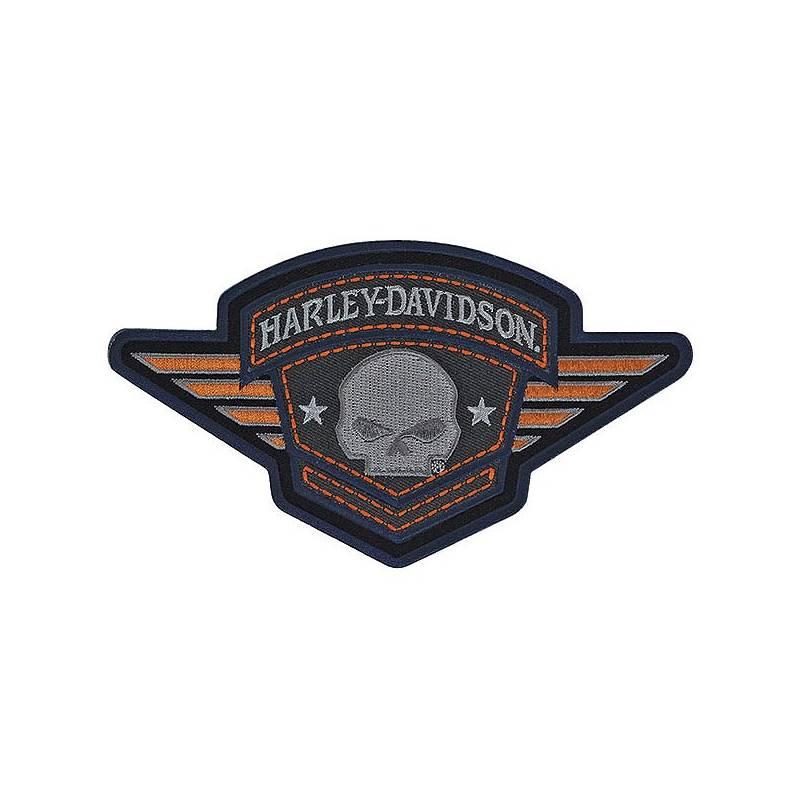 Patch Skull Badge, Willie G., brodé, Harley-Davidson EM093303