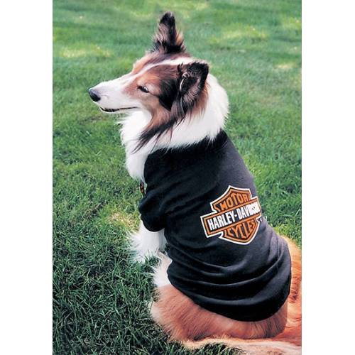 Tee-shirt Bar & Shield pour chien, noir, orange, Harley-Davidson H2100
