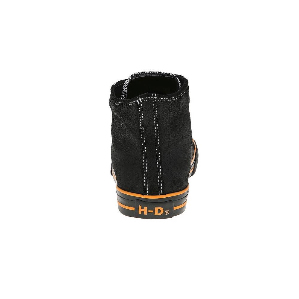 Baskets hautes Flora femme, à lacets, croute de cuir, noir, Harley-Davidson D83196