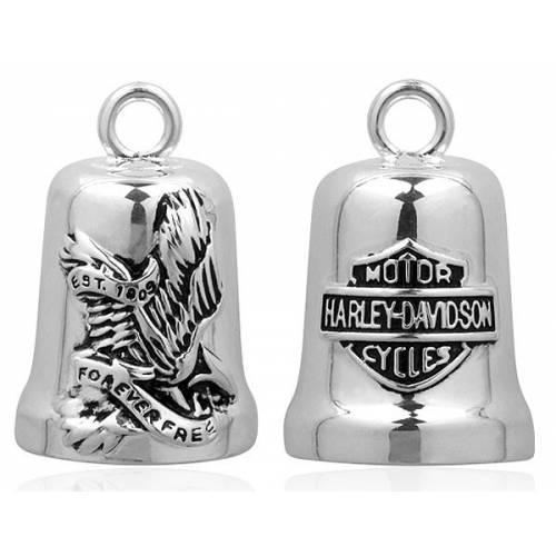Clochette Forever Free, aigle américain, metal argenté, Harley Davidson HRB010