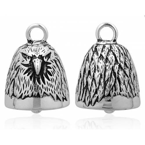 Clochette Bald Eagle, tête d'aigle, metal argenté, Harley Davidson HRB021