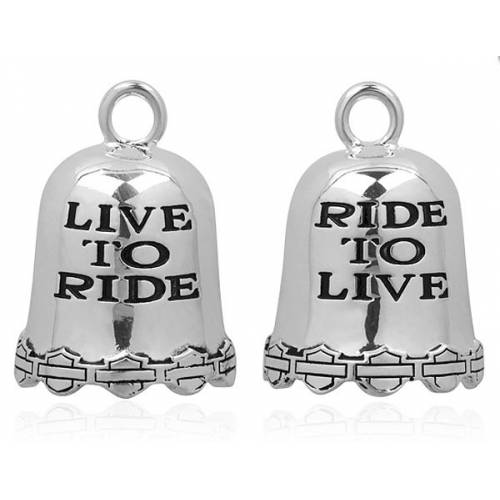 "Clochette ""Live to Ride"", metal argenté, Harley Davidson HRB028"