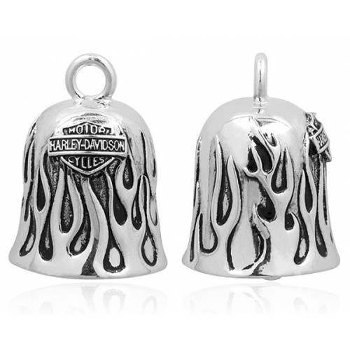 Clochette Flaming Hot, metal argenté, Harley Davidson HRB031