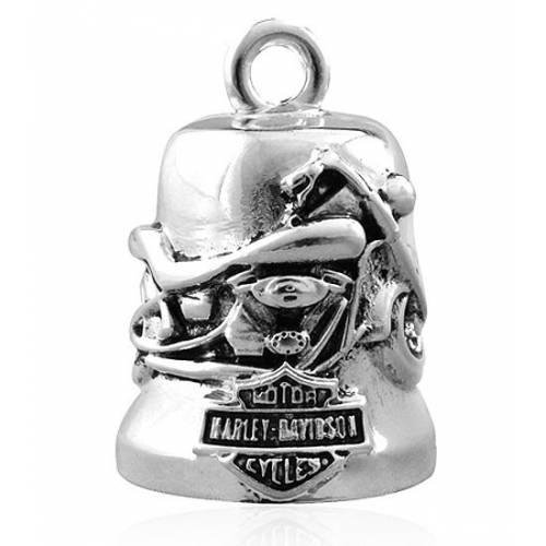 Clochette Motorcycle, metal argenté, Harley Davidson HRB037