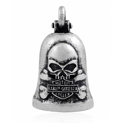 Clochette H-D Skull & Crossbones, metal mat, Harley-Davidson HRB051