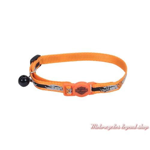 Collier pour chat, nylon, orange, Harley-Davidson H6741-HOBF12
