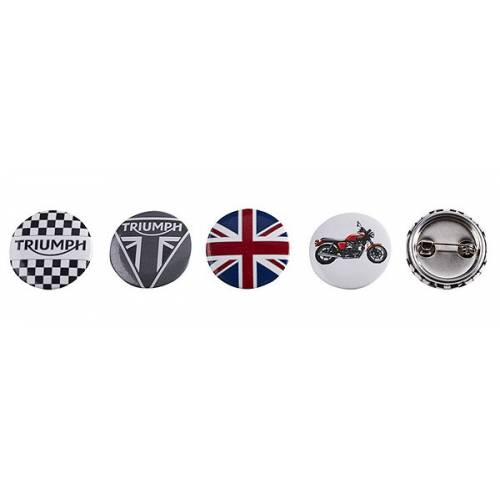 Set de 4 badges Triumph, type broches, Bonneville, Triumph MPBS15312