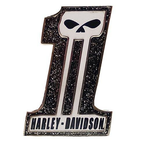 Pin's Skull Number One Harley-Davidson