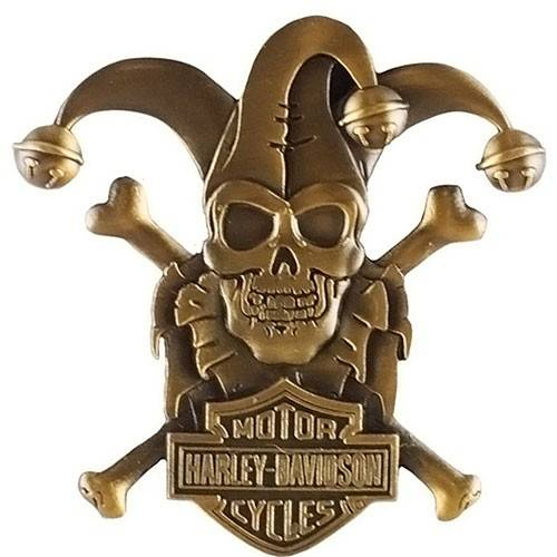 Pin's Clown Skull Harley-Davidson