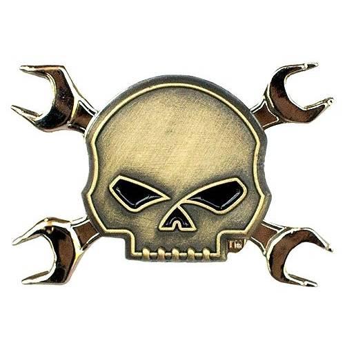 Pin's Skull Crossbones Harley-Davidson