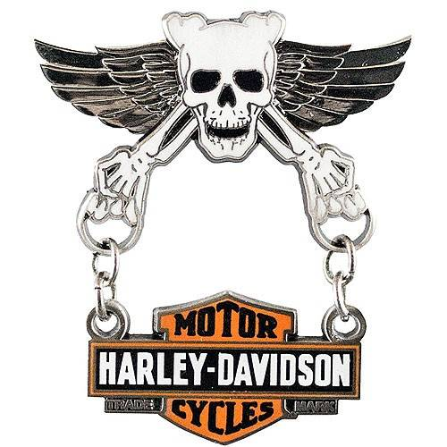 Pin's Skull Wings Harley-Davidson