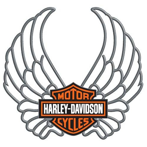 Pin's Wings Bar & Shield Harley-Davidson