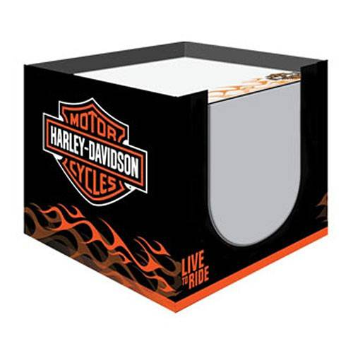 Bloc note cube Live to Ride, 700 feuilles, Flaming, Harley-Davidson HDL-20102