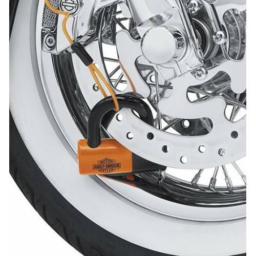 Kit de cadenas, antivol, orange, clé, cable, pochette rangement, Harley-Davidson 94868-10