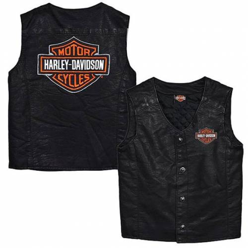 Gilet enfant, simili cuir, noir, Bar & Shield, Harley-Davidson