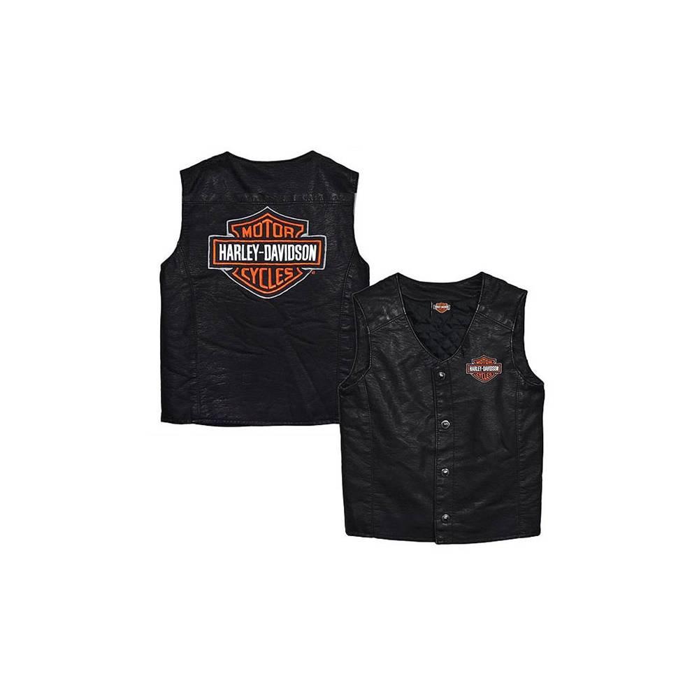 Gilet enfant, simili cuir, noir, Bar & Shield, Harley-Davidson