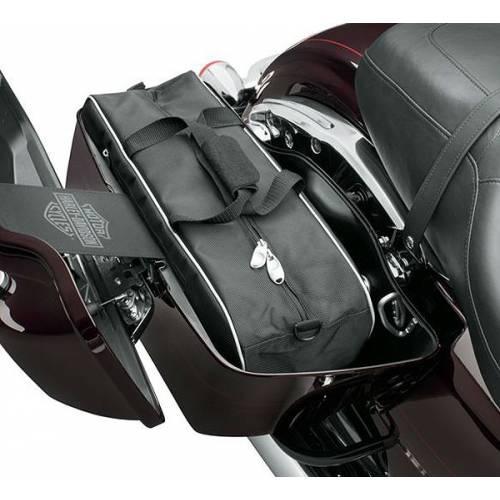 Bagages de sacoches Premium, x 2, nylon balistique noir, zippés, Harley-Davidson 93300070