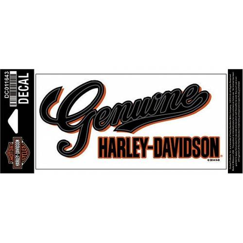 Sticker Genuine Script Harley-Davidson