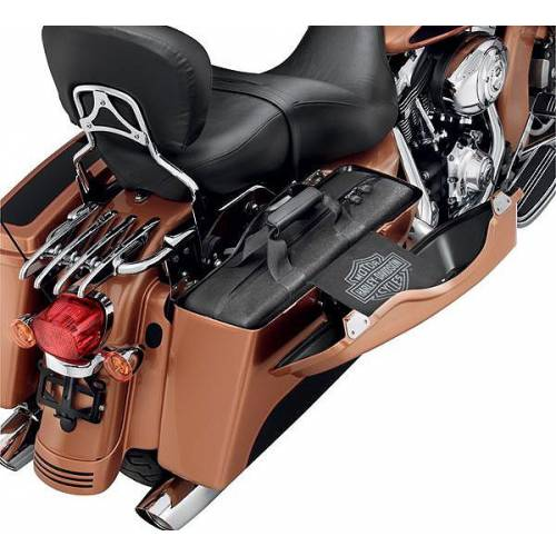 Bagages de sacoches rigides, noir, zippé, Harley-Davidson 90485-08