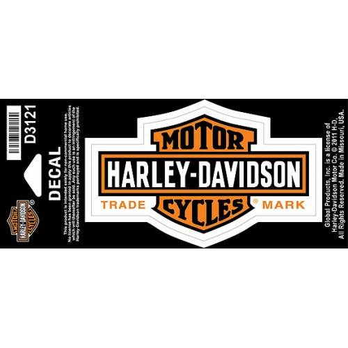 Sticker Long Bar & Shield orange Harley-Davidson