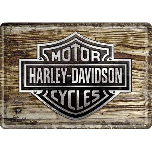 Carte postale métal Wood Bar & Shield, Harley-Davidson 10119