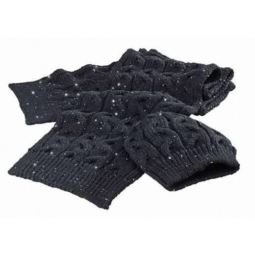 Ensemble bonnet et echarpe femme, sequins, noir, tricoté, Triumph MSCA15337