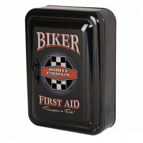 Boite à clés murale Biker, métal émaillé, noir, vintage, Harley-Davidson HDL-15104
