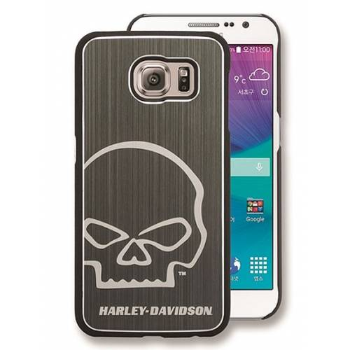 Coque Galaxy S6 Skull Silver, alu, Harley-Davidson 7800