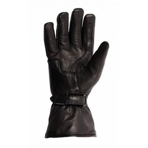 Gants cuir Jeff hiver homme, noir, intérieure synthétique mouton, Helston's