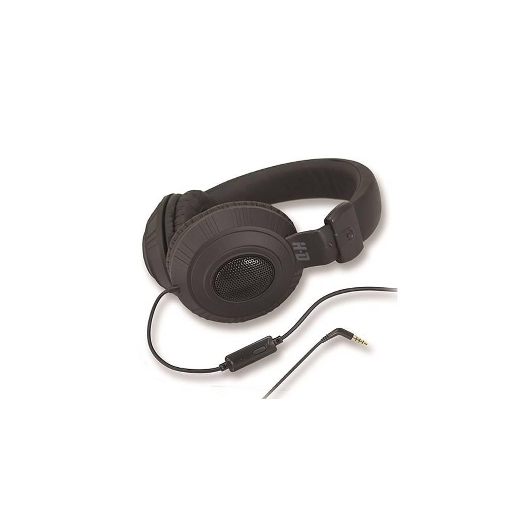 Casque audio H-D, noir, cuir, Harley-Davidson 7787