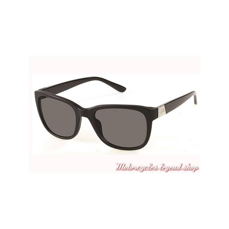 851810c6492045 Lunettes solaires H-D femme, monture noir brillant, strass, Harley-Davidson  HDS5019-