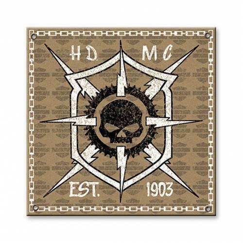 Plaque aluminium HDMC Harley-Davidson