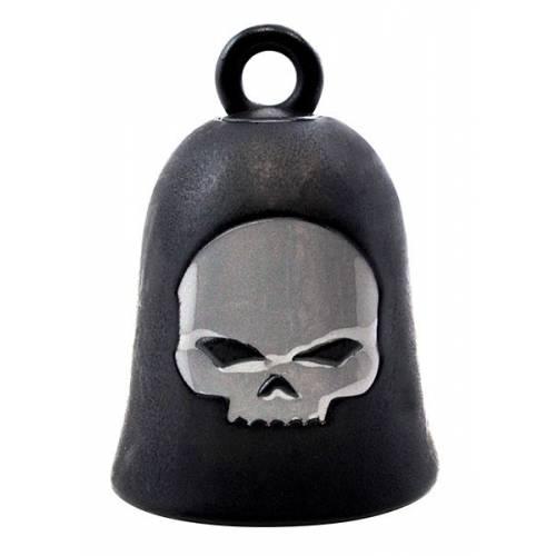 Clochette Skull Wille G. métal et noir mat Harley-Davidson HRB052