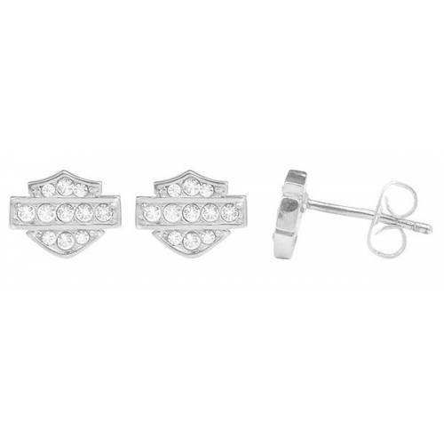 Boucles d'oreilles Bar & Shield Bling Harley-Davidson