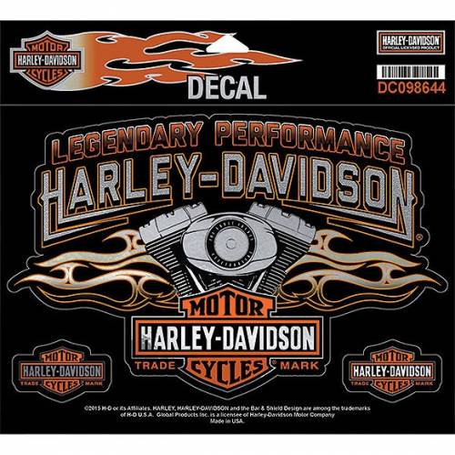 Sticker Engine Flames, Harley-Davidson DC098644