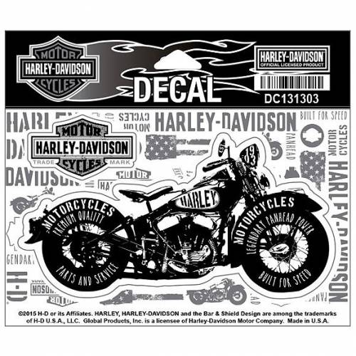 Sticker Panhead Power Harley-Davidson