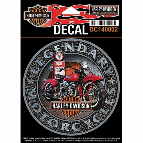 Sticker Gas Pump, vintage, Harley-Davidson DC140802