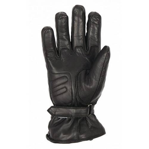 Gants cuir Wayne hiver homme, noir, doublés Primaloft, Helston's