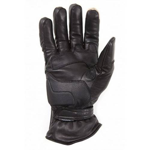 Gants cuir Wind hiver homme, noir, coque carbone, Helston's