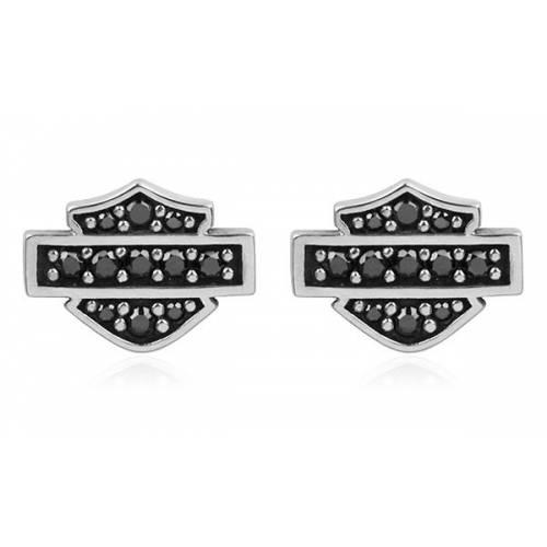Boucles d'oreilles Bar & Shield Bling Harley-Davidson