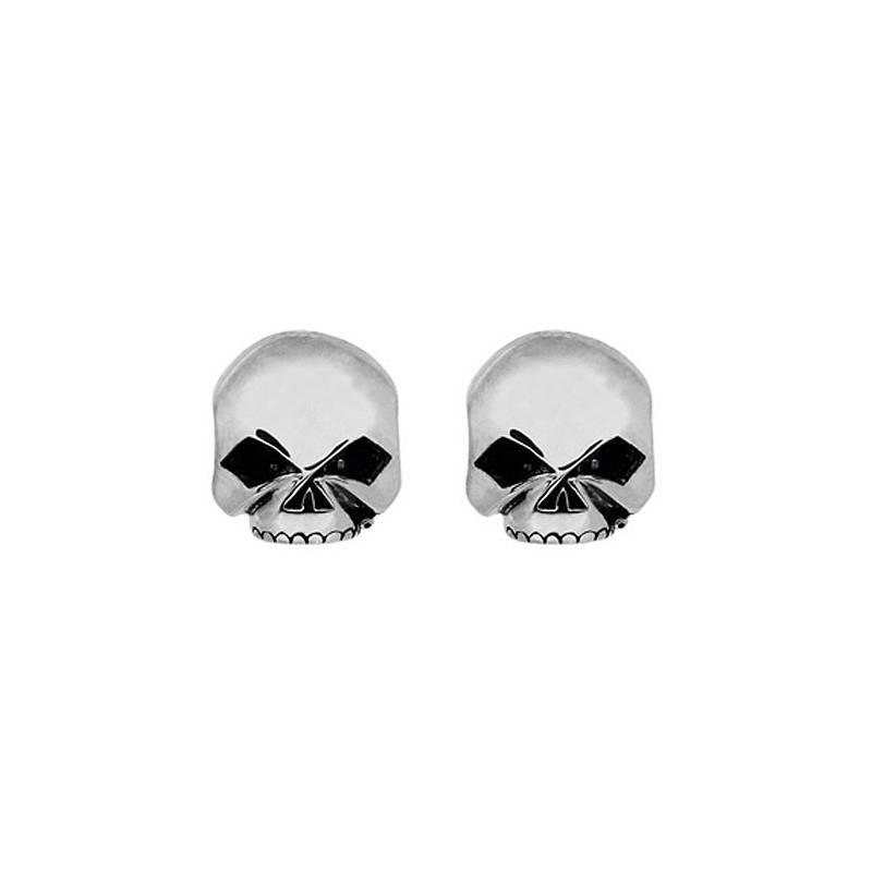 Boucles d'oreilles Skull Willie G. femme, argent, Harley-Davidson HDE0377