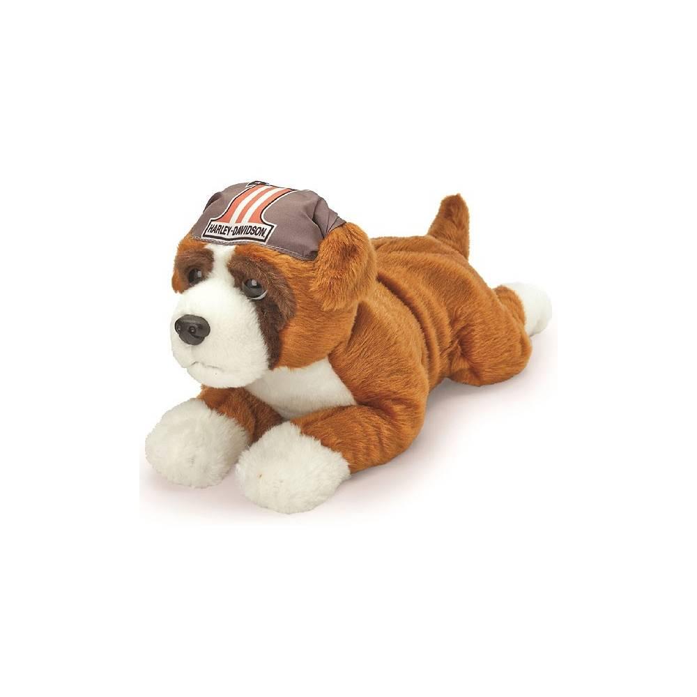 Peluche Boxer, marron et blanc, 30 cm, Harley-Davidson 20365