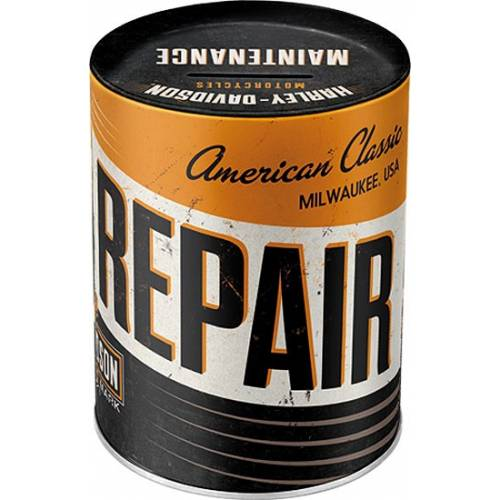 Tirelire métal Service & Repair Harley-Davidson