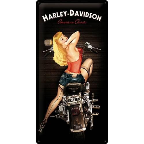 Plaque métal Biker Babe Harley-Davidson