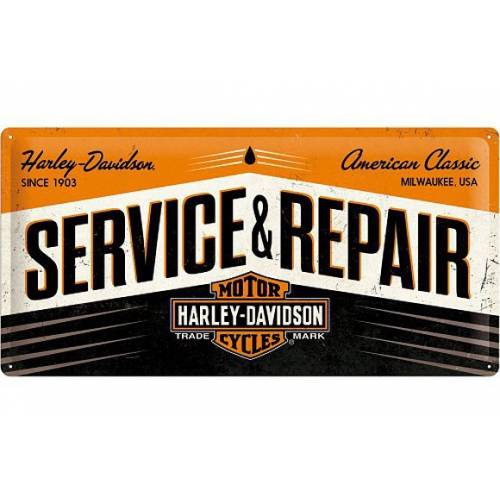 Plaque métal Service & Repair Harley-Davidson