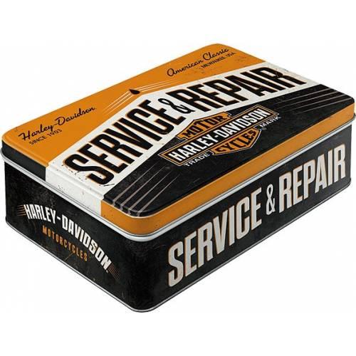 Boite métal H-D Service & Repair, couvercle, rétro, Harley-Davidson 30735