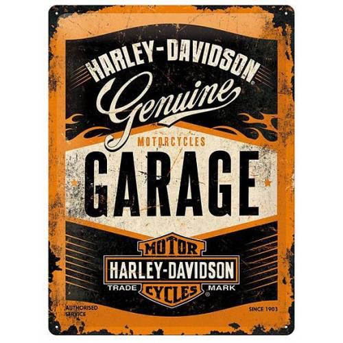 Plaque métal Garage Harley-Davidson