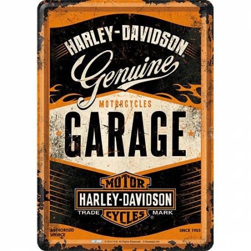 Carte postale métal Genuine Garage, rétro, Harley-Davidson 10281