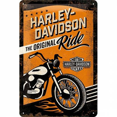 Plaque métal Original Ride Harley-Davidson